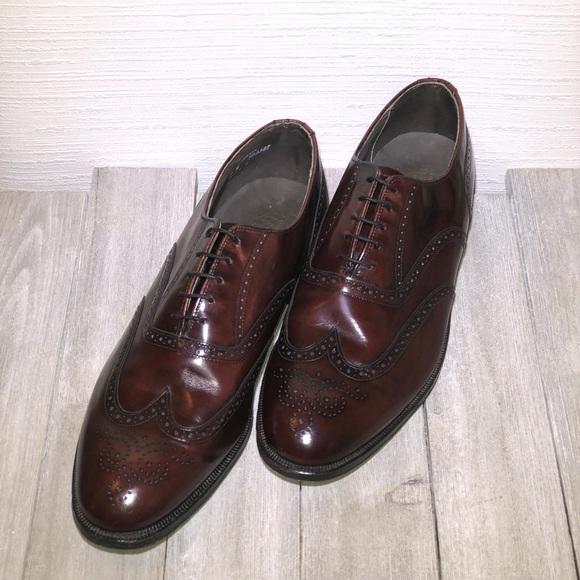 Vintage Dexter Black Leather Wingtip Oxford Shoes Men/'s Size 8.5